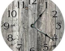 <b>Wooden plank clock</b> | Etsy