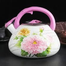 <b>Чайник эмалированный со свистком</b> «Чудесница. Хризантема ...