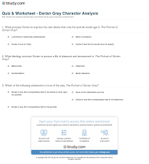dorian gray essay print dorian gray character analysis worksheet