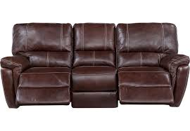 browning bluff brown leather reclining sofa from furniture browning furniture