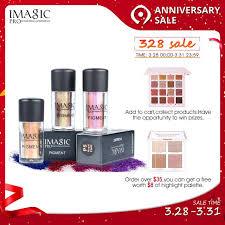 IMAGIC <b>Professional</b> Glitter Eyeshadow Palette <b>9 Colors</b> Pigment ...