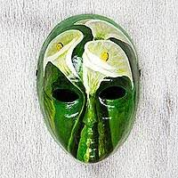 hand made lily mask women