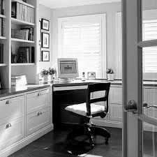 furniture white wooden cabinet with shelves and drawers connected with study table and wooden chair black white home office study