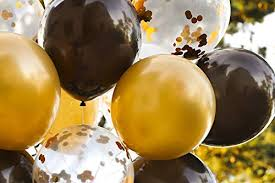 Modern <b>Gold</b> and Black Agate Mix Latex Party <b>Decoration</b> Marble ...