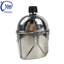 China Outdoor <b>Stainless Steel Army Military</b> Water Bottle Canteen ...