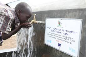 partners for children the european union water clean water proper sanitation and hygiene for south sudan refugees water is life a young south sudan refugee boy drinks clean safe and treated water
