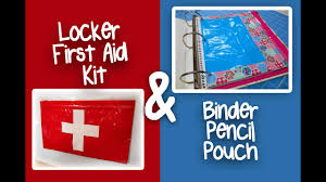 DIY Duct Tape Locker <b>First Aid</b> Kit and Binder <b>Pencil Pouch</b> ...