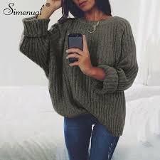 <b>Simenual sweaters</b> fashion 2018 women <b>clothing</b> loose casual solid ...