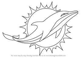 Small Picture Coloring Pages How To Draw A Dolphins Bottlenose Logo Miami