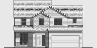 Bedroom House Plans  Wide House Plans  Narrow House PlansHouse front drawing elevation view for WD bedroom house plans  wide house plans