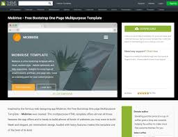 top website builder reviews of 2017 this is not a review as such but rather a bootstrap website theme inspired by the mobirise platform this bootstrap template is a one page design
