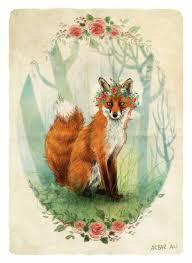 <b>Fox</b> with a flower crown in 2019 | Flower crown drawing, <b>Fox</b> art ...