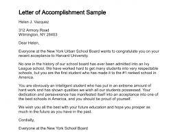 letter of accomplishment letter of accomplishment sample