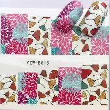 Online Shop <b>YWK</b> 31 Styles Flower Vintage <b>Nail Art Water</b> Transfer ...