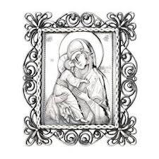 <b>Серебряная икона</b> Владимирская Божия Матерь(снято с ...