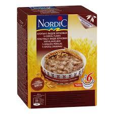 <b>Хлопья Nordic</b> (Нордик) <b>5</b> видов зерновых, с 12 мес., 600 гр ...