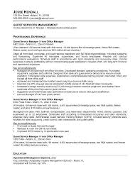Example Guest Service Manager Resume   Free Sample Aspirations Resume Writing Service