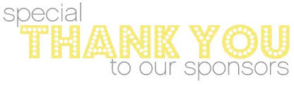 Image result for thank you to our sponsors sign