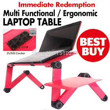Multi Functional Ergonomic foldable <b>laptop table</b> for bed stand E ...