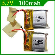 <b>3.7V</b> 100mAh Spare <b>Battery</b> for <b>RC</b> Cheerson CX 10 Quadcopter ...