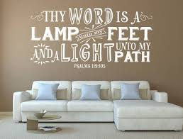 Psalm 119 <b>Bible</b> Verse <b>Wall Decal</b> - <b>Christian</b> Sayings- <b>Scripture</b> ...