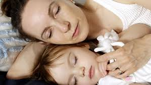 Mother and child sleeping