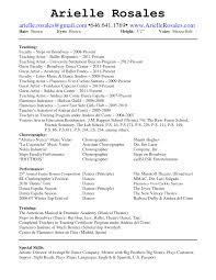 dance teacher resume examples resume examples  dance teacher resume examples