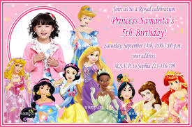 disney princesses birthday invitations disney princess birthday disney princess birthday invitations picture