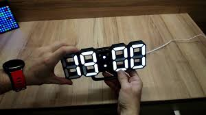 <b>3D LED Digital Wall Clock</b> EN8810 Review - YouTube