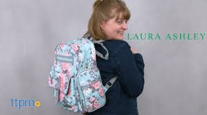 <b>Laura Ashley</b> Baby 4-in-1 Rose Floral Dome Backpack Diaper <b>Bag</b> ...