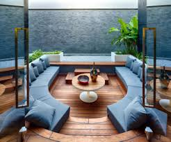 this teak wood living room is perfect for a living room that doubles as an outdoor amazing modern living room