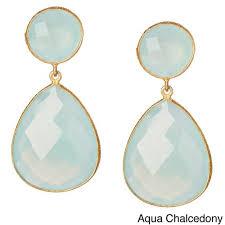 Designer <b>Earrings</b> - Aqua Chalcedony Gemstone <b>Earring</b> Exporter ...