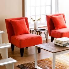 holly martin purban red orange slipper chairs set of burnt orange furniture