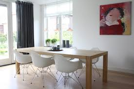 chair dining tables room contemporary: eames style office chair dining room contemporary with curtains dining table centerpiece