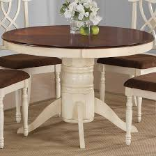 kitchen pedestal dining table set: cameron  pc cottage round pedestal table set in buttermilk amp dark cherry finish by coaster