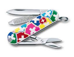 <b>Нож</b>-<b>брелок</b> Victorinox Classic, <b>58 мм</b>, 7 функций, <b>VX Colors</b> ...