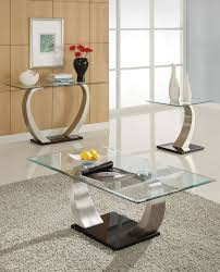 room modern camille glass: alena modern chrome glass coffee table