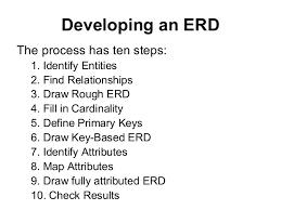 entity relationship diagram  erd steps in building an erd