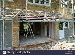 construction steel patio enlarging house doorway for new patio doors showing new steel beam and