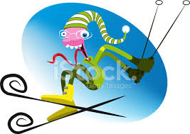 Bildresultat för skidåkning tecknad