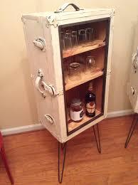 steamer trunk liquor cabinet bar trunk furniture