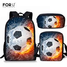 <b>FORUDESIGNS Children</b> Primary School Bags for <b>Boys</b> Sport Foot ...