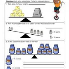 Measurement Worksheets - Have Fun Teachingbalanced scale worksheet 1