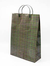 """<b>Пакет</b> бумажный с пластиковыми ручками """"Шотландка"""" 3 шт. 44 ..."""