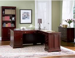 rich cherry finish classic office desk wstorage drawers home office furniture cherry finished