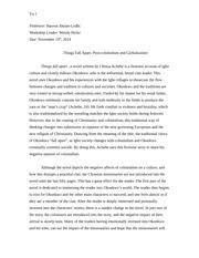 things fall apart essay   hsp iii professor schachter things fall   pages things fall apart post colonialism and globalization essay