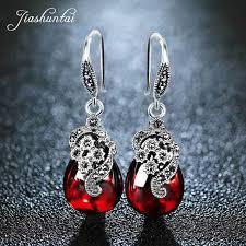 Online Shop <b>JIASHUNTAI</b> Silver <b>925</b> Earrings for Women <b>Vintage</b> ...