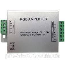 """<b>AMPLIFIER</b>-12A"" Усилитель <b>контроллера</b> RGB 144W 12A 12-24V ..."