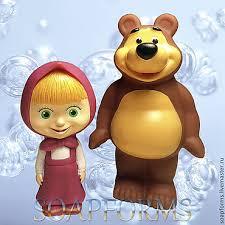 """<b>Набор силиконовых форм для</b> мыла """"Маша и Медведь 3D ..."""