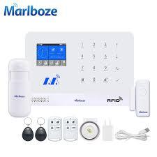 Marlboze <b>Wireless Home Security</b> GSM <b>WIFI</b> GPRS Alarm System ...